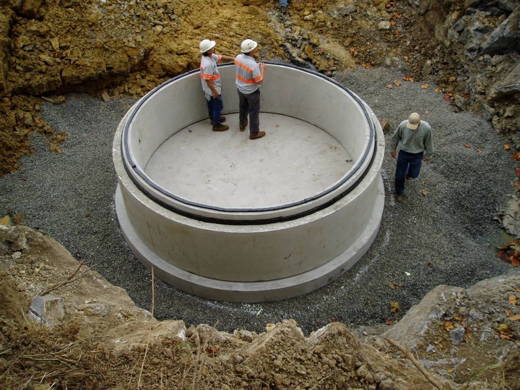 Cylindrical structures are manufactured per A.S.T.M C-478 and Project specifications.